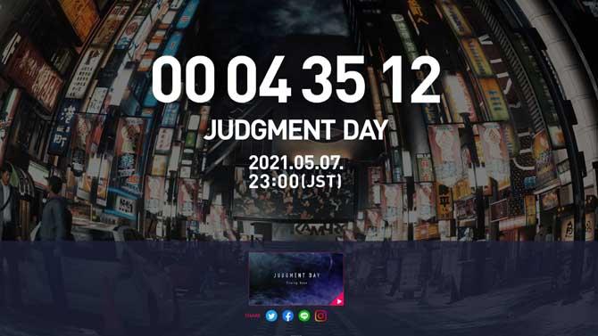 JUDGMENT DAYの告知画面
