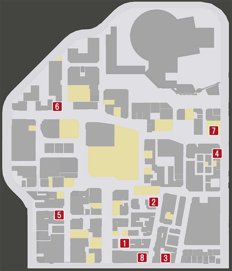 ロストジャッジメントの神室町の販売店マップ
