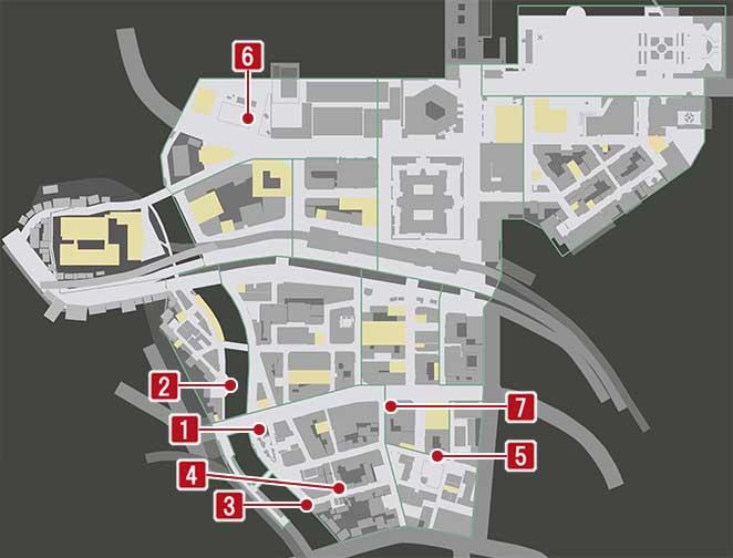カッパの像の入手場所のマップ