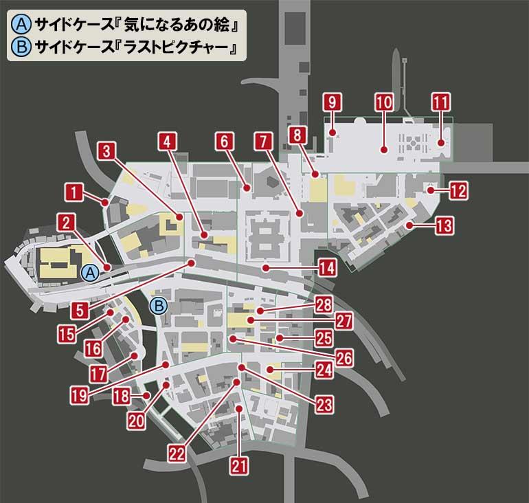 異人町にあるリスの絵の場所のマップ