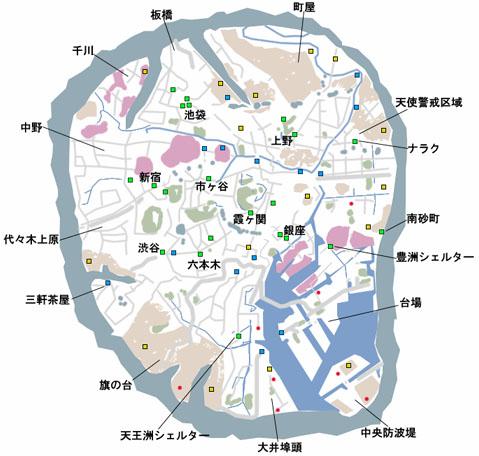 女神転生4のマップ