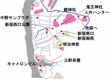 東京-新宿のマップ