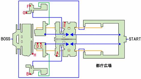 新宿-都庁広場のマップ