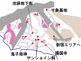 東京-池袋のマップ