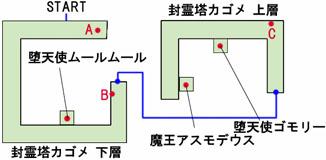 封霊塔カゴメのマップ