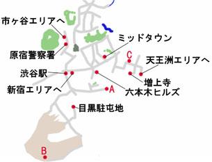 東京-六本木のマップ