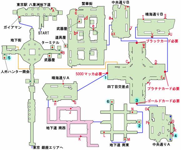 銀座 地下街のマップ