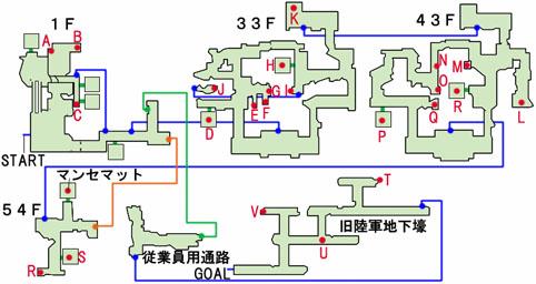 ミッドタウンのマップ