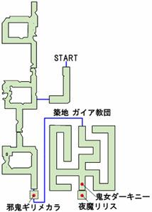 築地本願寺の隠し通路のマップ