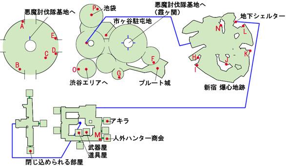 東京-新宿爆心地跡のマップ