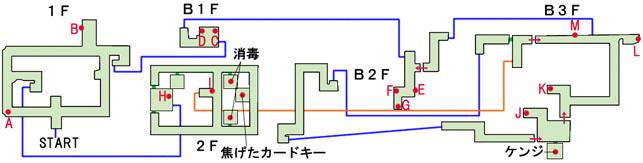 爆炎の市ヶ谷駐屯地のマップ