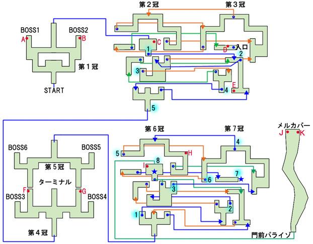 プルガトリウムのマップ