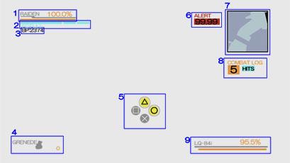 メタルギアライジングのゲーム画面