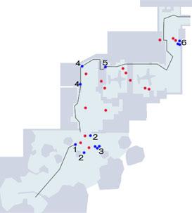 奇襲のトロフィーの取り方手順マップ