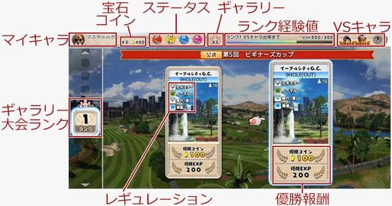 チャレンジモードの画面解説