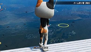 釣りポイントでルアーを投げてる画像