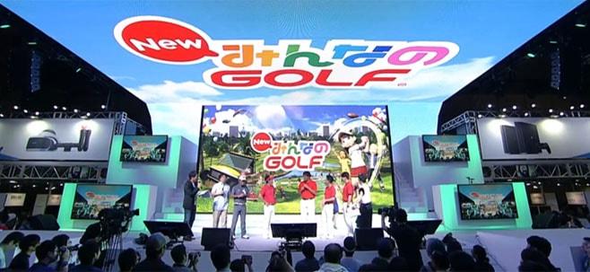 PlayStation祭『NewみんなのGOLF』のステージイベント