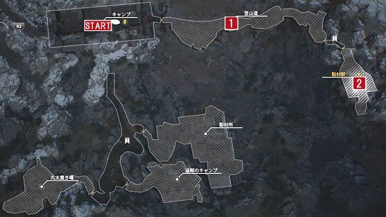 デッドロック峠のマップ