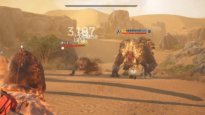 砂丘の墓場での戦闘光景