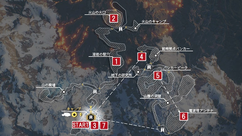 イーグル・ピークスのマップ