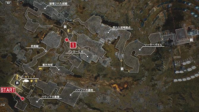 コレクタークエスト『歴史家:不朽』の発生場所のマップ