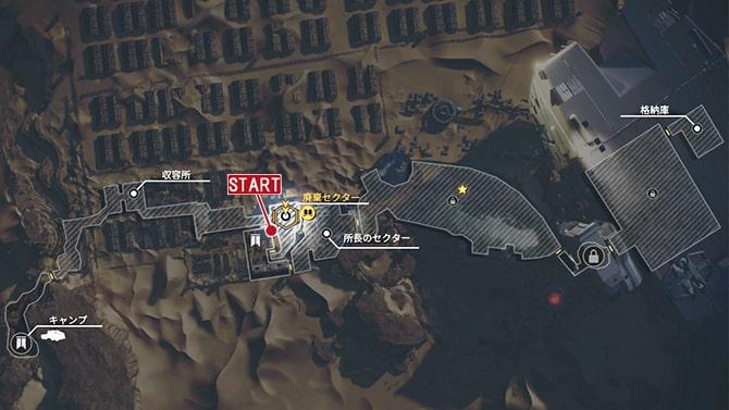 コレクタークエスト『歴史家:進化』の発生場所のマップ
