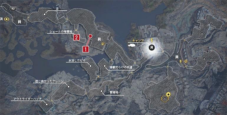 ハンターのビッグジョーのクエスト発生場所マップ