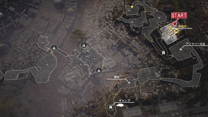 コレクタークエスト『歴史家:閃き』の発生場所のマップ