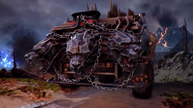 ヘルズレンジャーズパックのケルベロスを模したデカールのトラック