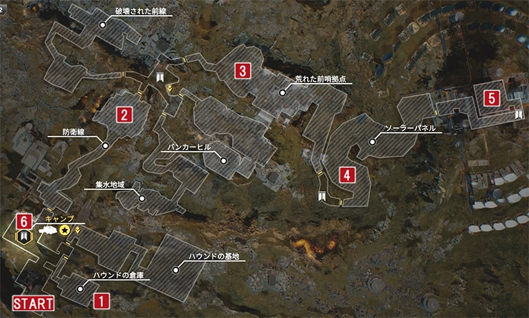 リフトタウンのマップ