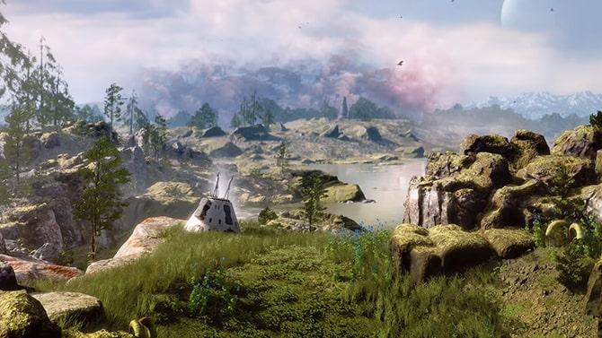 惑星エノクの風景