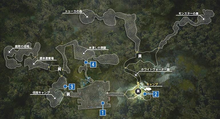 大要塞のジャーナルの入手場所マップ