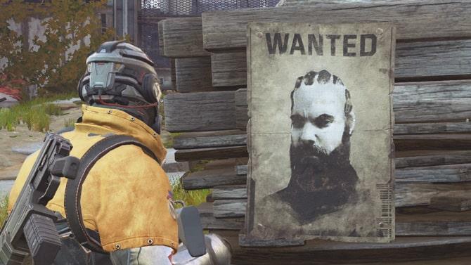 賞金首のポスター