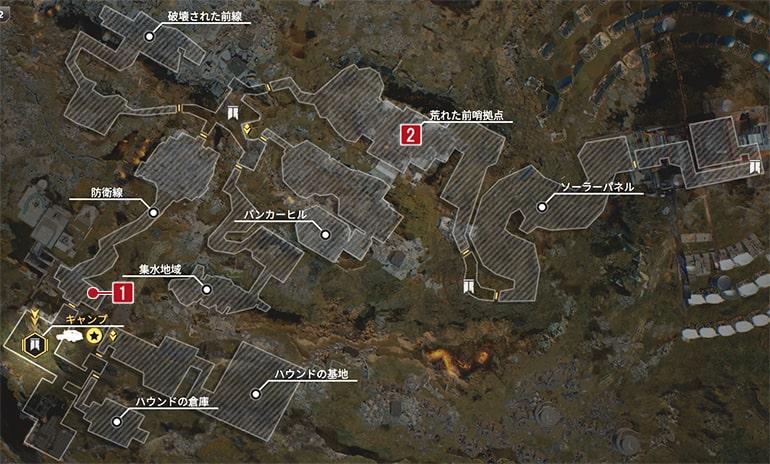 賞金首のザ・パーフォレイターのクエスト発生場所マップ
