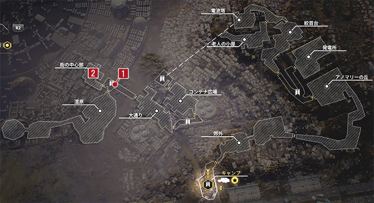 賞金首のハンニバルのクエスト発生場所マップ