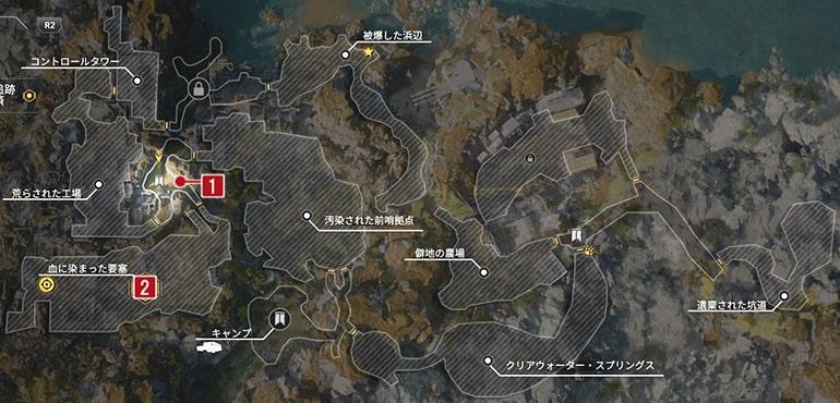 賞金首のブラッディ・バロンのクエスト発生場所マップ
