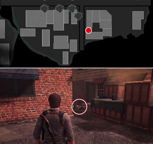 アサルトライフルの弾用ポーチの入手場所のマップ