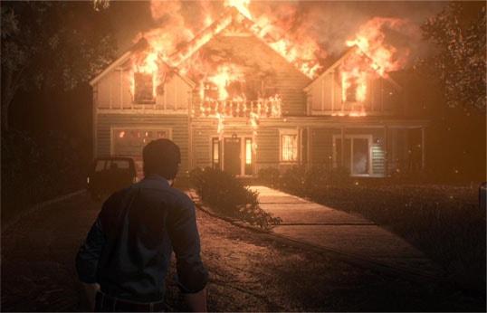 チャプター1のセバスチャンの自宅が火事になっているシーン