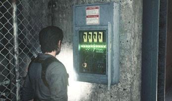 電力ボックスの操作画像