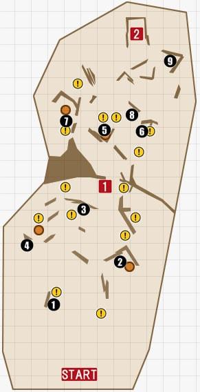 チャプター12『底なし沼』のマップ