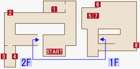 セバスチャンの家のマップ