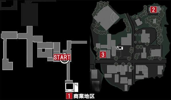 商業地区のマップ