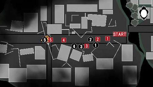 チャプター13のセオドアの拠点行きのマップ