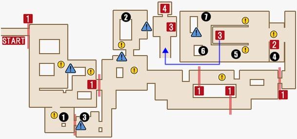 チャプター14のセオドアの領域(3階)マップ