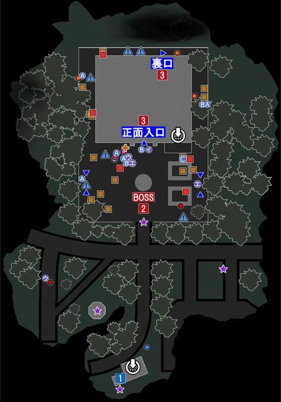 市庁舎エリアのマップ