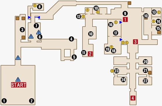 チャプター9の攻略マップ