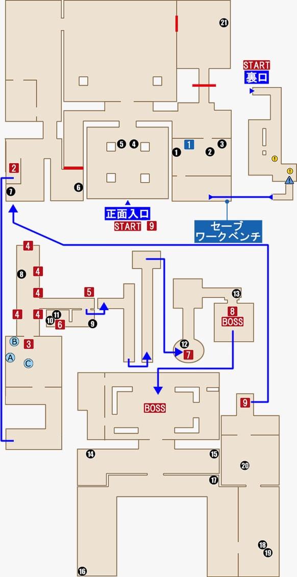 市庁舎のマップ