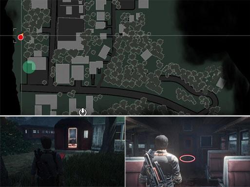 ハンドガンの弾用ポーチの入手場所のマップ