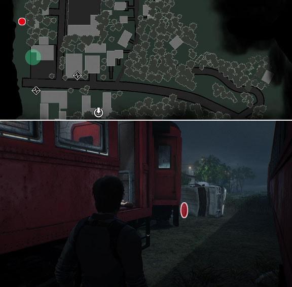 横転した車の裏側にあるロッカーの鍵の入手場所の画像