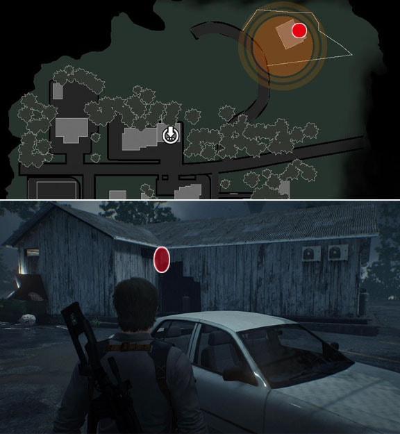 Pit STOPの建物裏あるに置いてあるロッカーの鍵の入手場所の画像